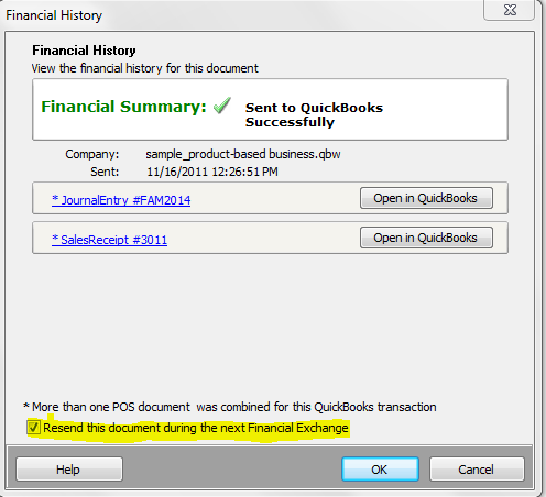 How to Resend Missing Transactions from QuickBooks Point of Sale to
