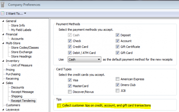 How to Add a Line on Sales Receipts for Tips in QuickBooks